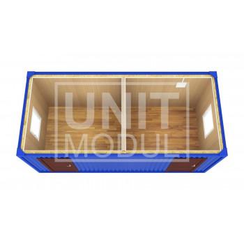 (БК-07) Бытовка металлическая (блок-контейнер) разделенная