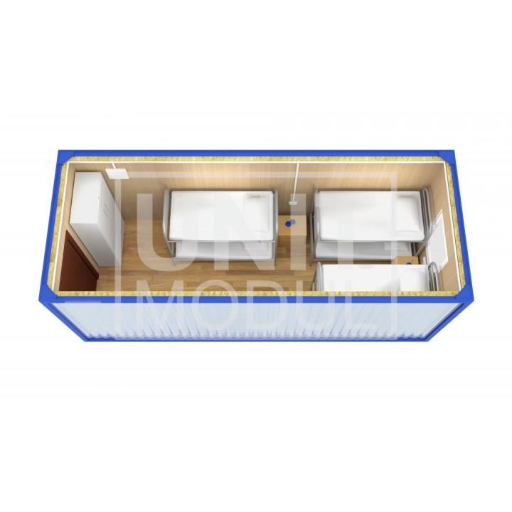 (БЖ-01) Бытовка металлическая (блок-контейнер) жилая стандарт недорого