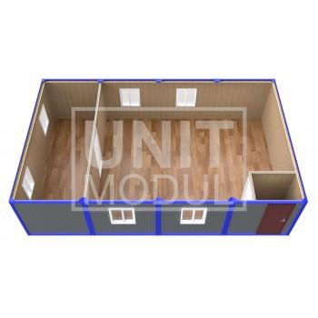 (ПЗ-41) Модульный штаб из 4-х бытовок (блок-контейнеров) с залом для совещаний