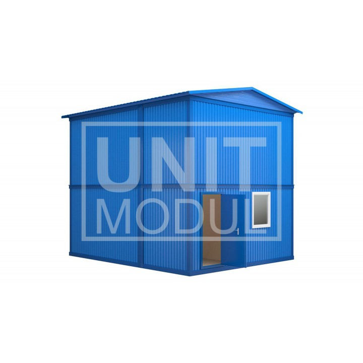 (МЗ-03) Модульное здание из шести блок-контейнеров с фальш-кровлей недорого