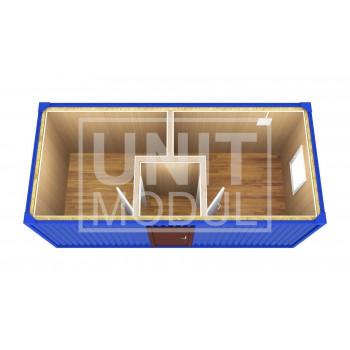 (БК-05) Бытовка металлическая (блок-контейнер) евро-распашонка