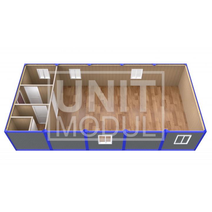 (ПЗ-50) Модульный штаб из 5-ти бытовок (блок-контейнеров) с залом для совещаний недорого