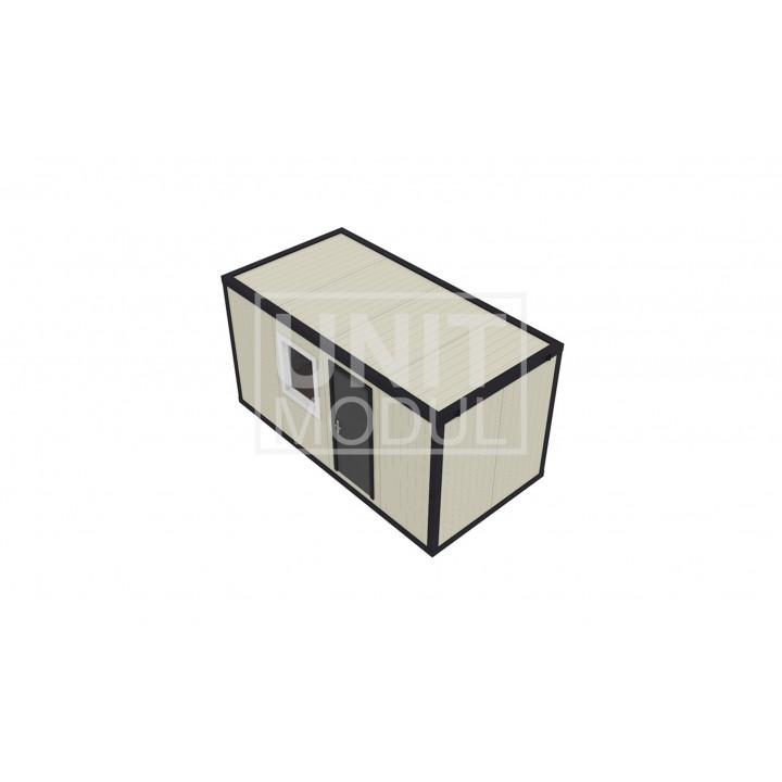 (СП-05) Бытовка металлическая (блок-контейнер) из сэндвич-панелей 5м
