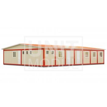 (МС-07) Модульное здание из 14-ти блок-контейнеров (сэндвич-панели)