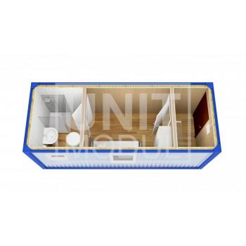 (БЖ-10) Бытовка металлическая (блок-контейнер) жилая с прихожей и туалетом