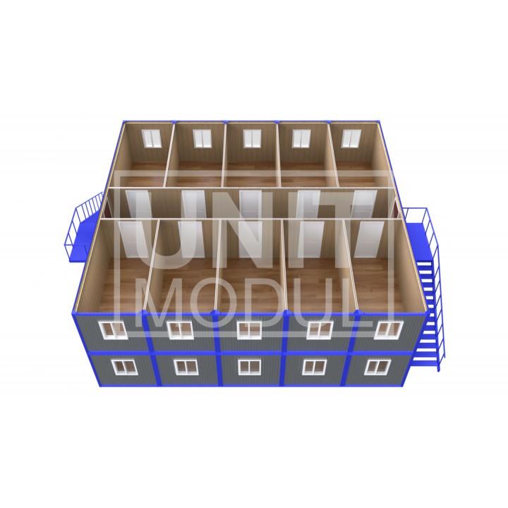 (ПЗ-200) Модульный штаб из 20-ти бытовок (блок-контейнеров)