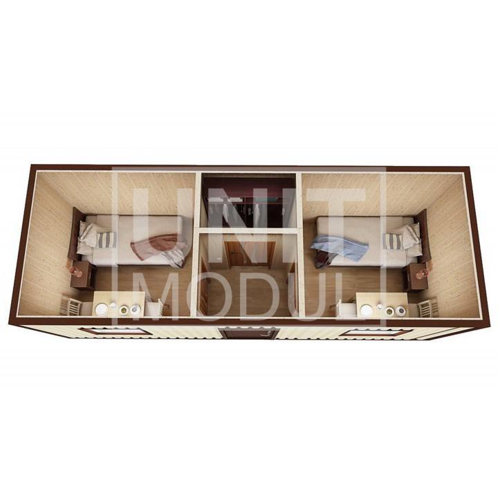 (БД-01) Бытовка металлическая (блок-контейнер) дачная с гардеробной