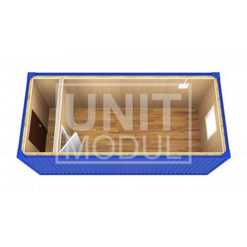 (БК-03) Бытовка металлическая (блок-контейнер) с перегородкой