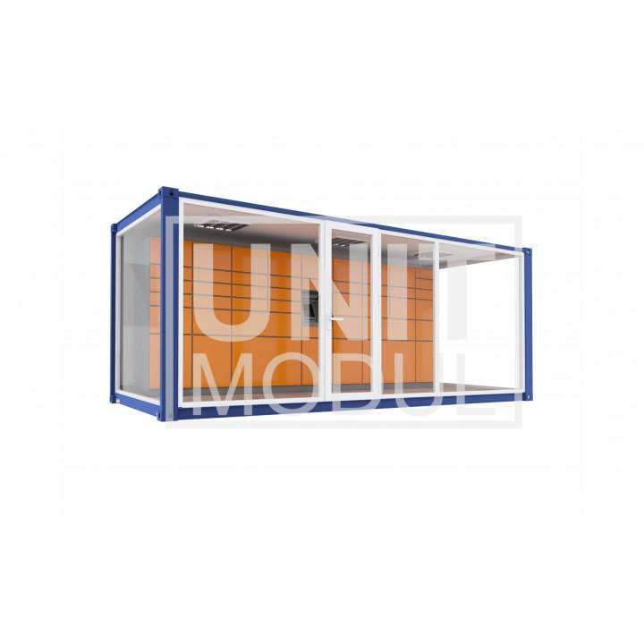 Пункт выдачи из блок контейнера