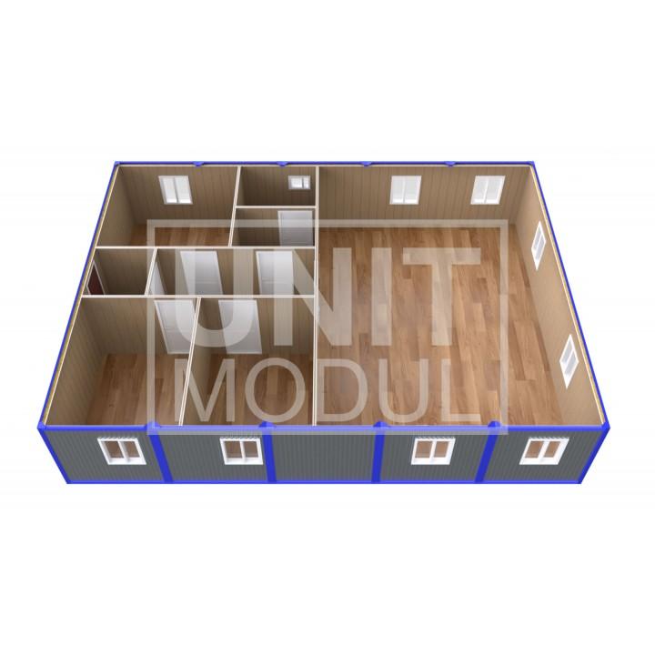 (ПЗ-101) Модульный штаб из 10-ти бытовок (блок-контейнеров)