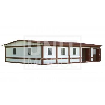 (МС-05) Модульное здание из пяти блок-контейнеров (сэндвич-панели)