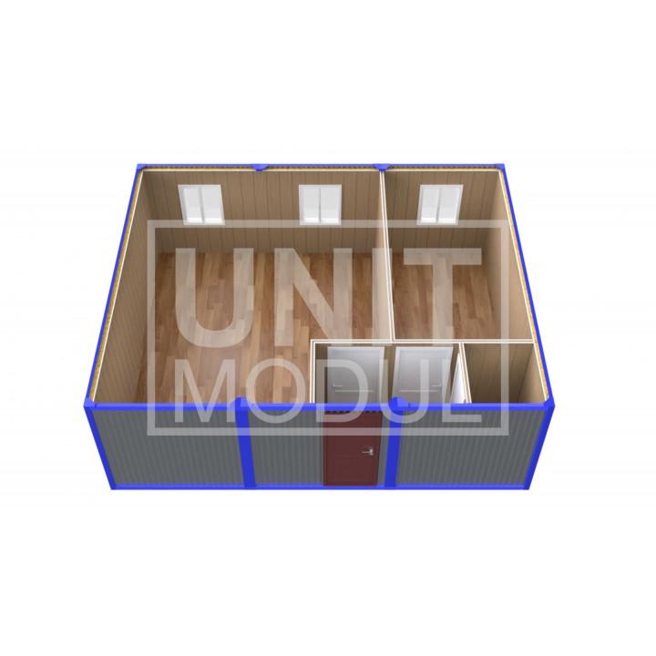 (ПЗ-31) Модульный штаб из трех бытовок (блок-контейнеров) с кабинетом