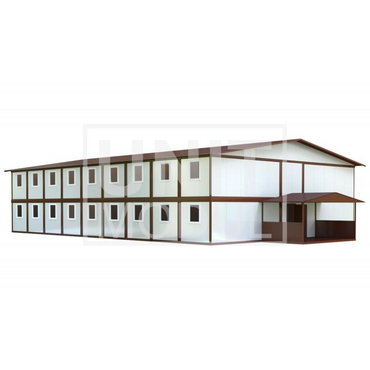 (МС-08) Модульное общежитие (сэндвич-панели) недорого