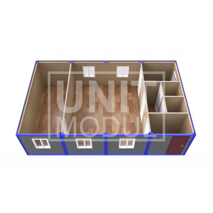 (ПЗ-40) Модульный штаб из 4х бытовок (блок-контейнеров)