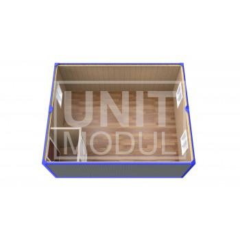(ПЗ-11)  Модульный штаб из 2-х бытовок (блок-контейнеров) с тамбуром