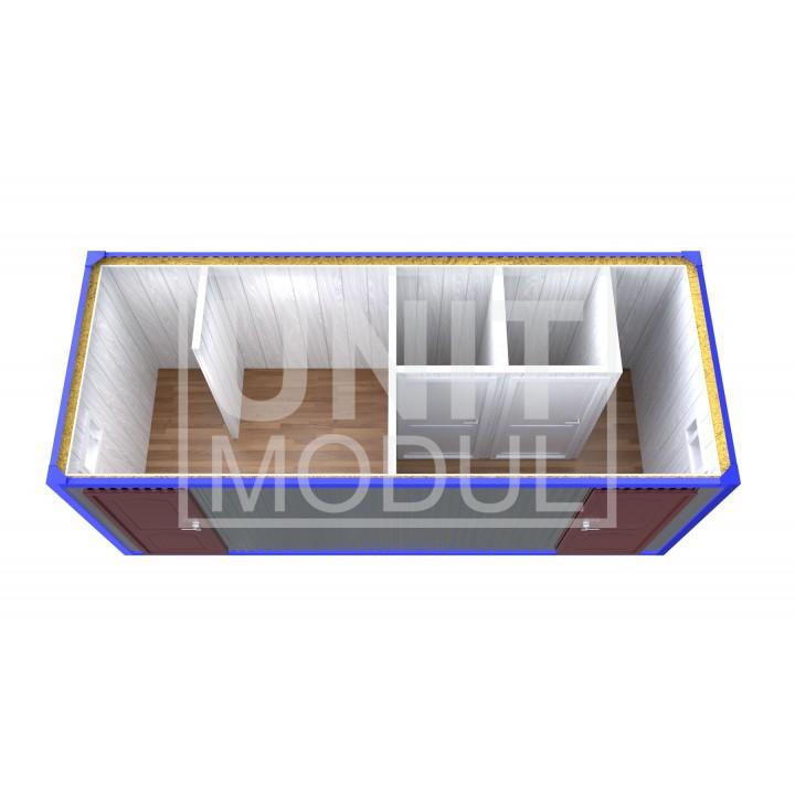 (СБ-11) Бытовка металлическая (блок-контейнер) сантехническая с раздельными входами, душевыми, туалетами