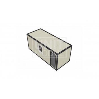 (СП-02) Бытовка металлическая (блок-контейнер) из сэндвич-панелей с тамбуром