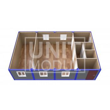 (ПЗ-40) Модульный штаб из 4-х бытовок (блок-контейнеров)