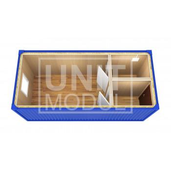 (БК-06) Бытовка металлическая (блок-контейнер) с перегородками