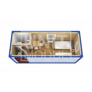 (БЖ-11) Бытовка металлическая (блок-контейнер) жилая с прихожей