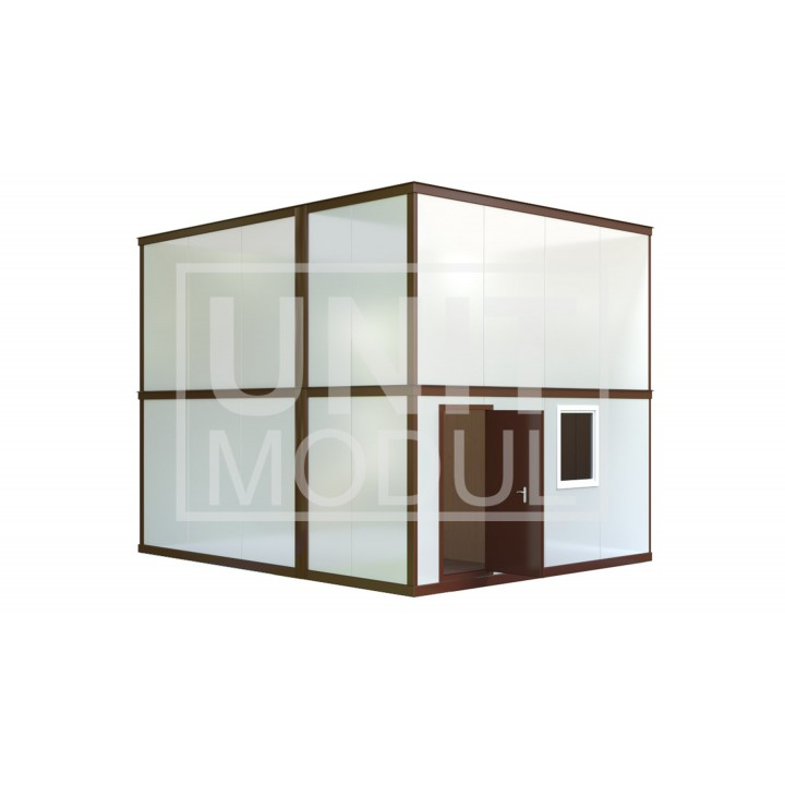 (МС-02) Модульное здание из шести блок-контейнеров (сэндвич-панели)
