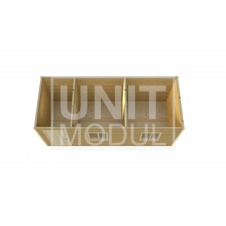 (ДБ-05) Бытовка деревянная с хоз помещением