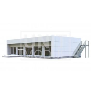 (МС-10) Модульное здание офисное/магазин (сэндвич-панели)