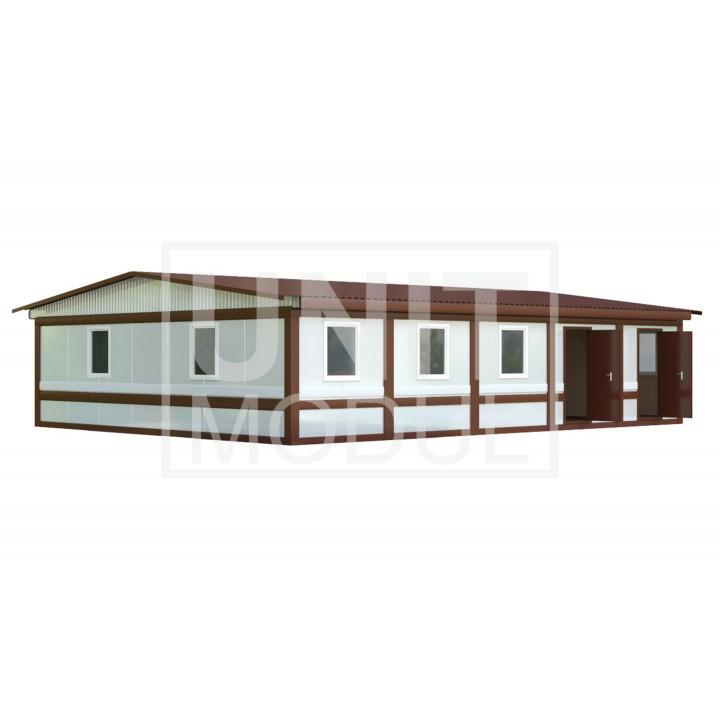 (МС-05) Модульное здание из пяти блок-контейнеров (сэндвич-панели) недорого