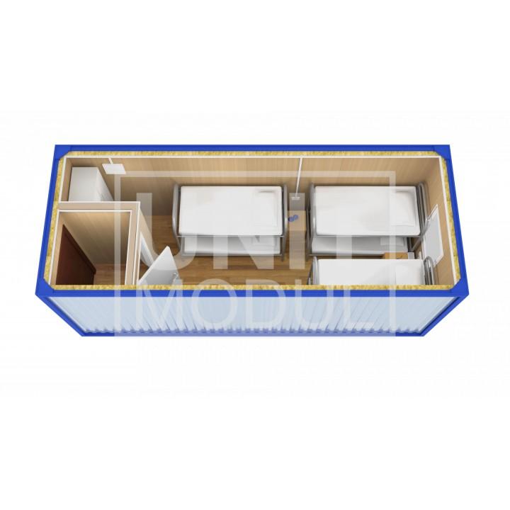 (БЖ-01) Бытовка металлическая (блок-контейнер) жилая с тамбуром