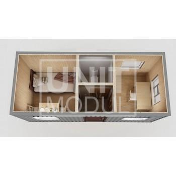 (КПП-04) Пост охраны модульный с комнатой отдыха