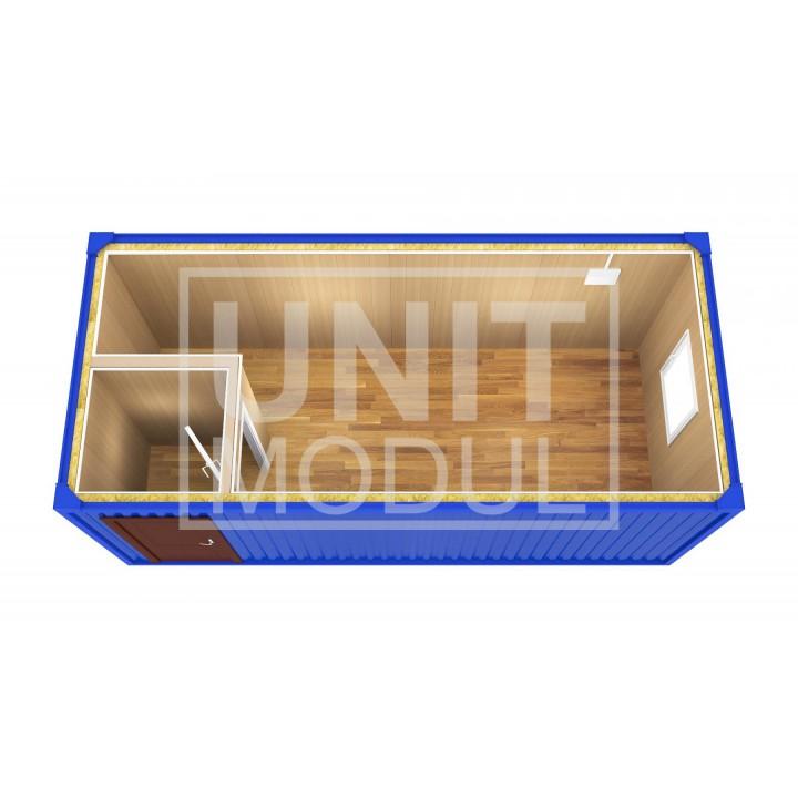 (БК-02) Бытовка металлическая (блок-контейнер) с тамбуром недорого