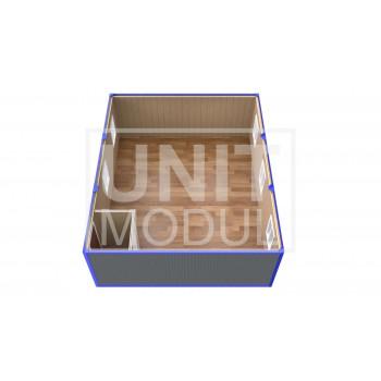(ПЗ-30) Модульный штаб из 3-х бытовок (блок-контейнеров) с тамбуром